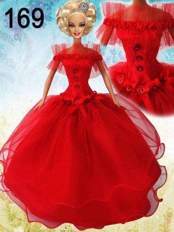 Вечернее платье для кукол барби своими руками 155